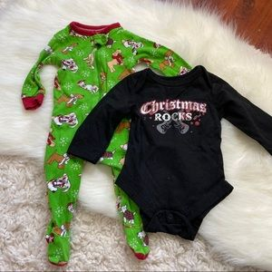 Christmas Sleeper and onesie